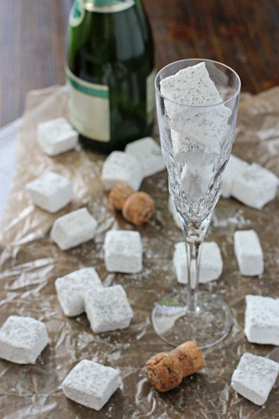 Homemade Champagne Marshmallows | Thanks Allison!  I'll have to try these.  They are so pretty!