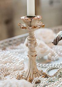 Vintage Inspired Taper Candle Holder, Style 9608 #davidsbridal #vintageweddings #weddingdecor