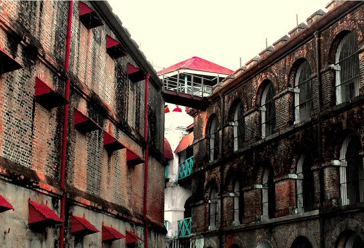 View of the wings at the Cellular Jail, earlier known as kaalpani