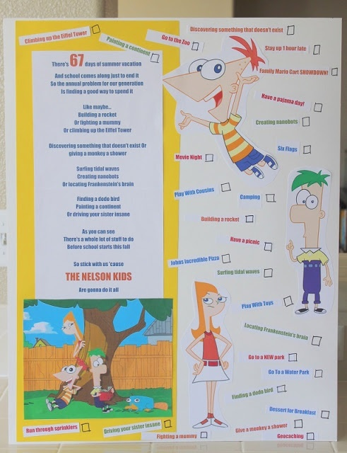 Our Summer Bucket List {Phineas & Ferb Style}