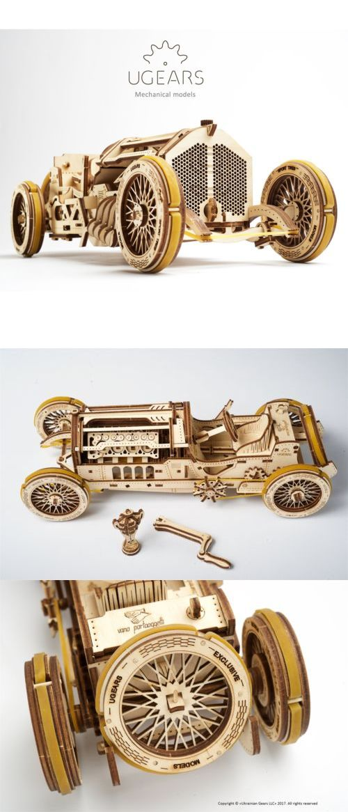 3d Puzzles 19186 Ugears U 9 Grand Prix Car Safe Mechanical 3d