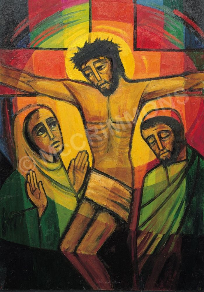12. Jesus speaks to his mother - The Footsteps of Christ by The Benedictine Sisters of Turvey Abbey / A2 posters