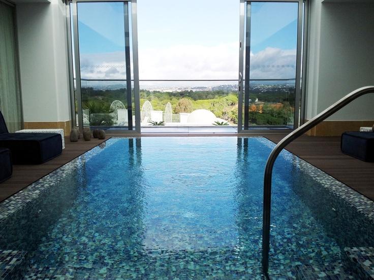 Private Indoor Pool In The Roof Garden Presidential Suite At Conrad Algarve Conrad Algarve