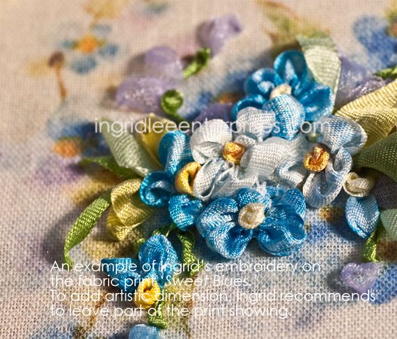 133 Best Images About Ribbon Embroidery And Fabric Art On