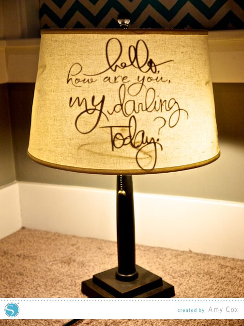 111 best lamp shades images on pinterest lamp shades lamp shade refashion amy cox for silhouette made with vinyl aloadofball Images