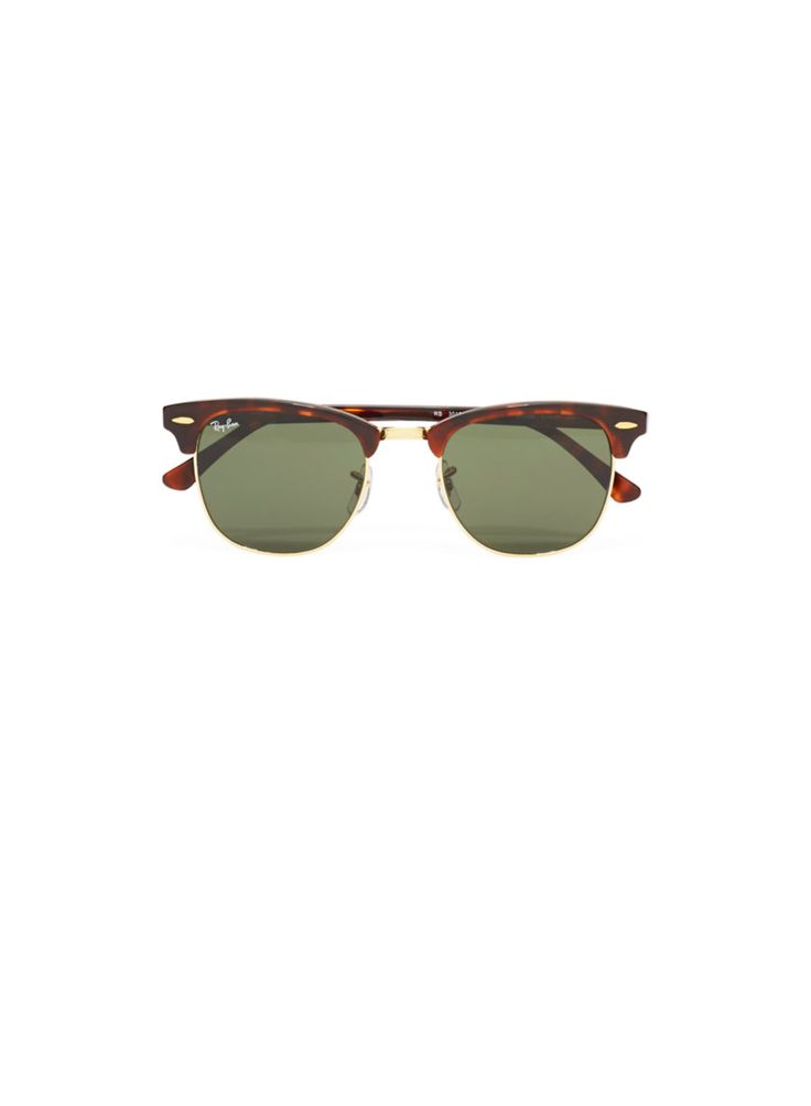 RAY-BAN CLUBMASTER SUNGLASSES - An iconic retro shape finished with gold-tone detailing #ARITZIACLEANSLATE