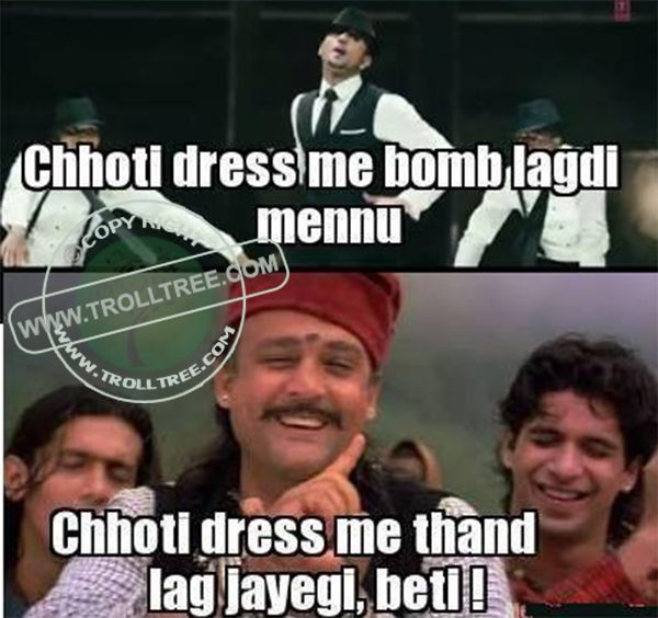 Share your Remark on the #trolls, Hindi #Jokes, #Punjabi Jokes, Funny #pictures & jokes, Spectacular Silly jokes. Get all updates of modern Hindi & Punjabi joke & other #Humorous troll only on @ www.trolltree.com #Funny #Bollywood Trolls : The Small Dresses Of #Girls