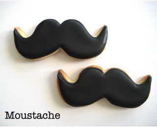Moustache. Cookies. via http://eatcakebemerry.blogspot.com/