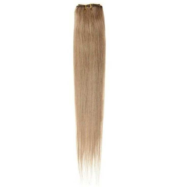"American Pride Single Weft Clip in Hair 18"" Light Mousey Brown 18"
