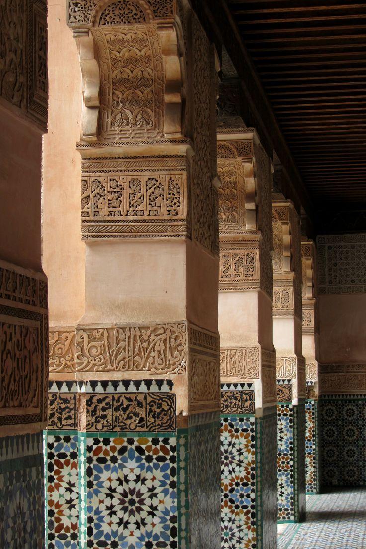 Medersa Ben Youssef, Marrakech La médina de Marrakech, au Maroc, est inscrite à la liste du patrimoine mondial de l'UNESCO