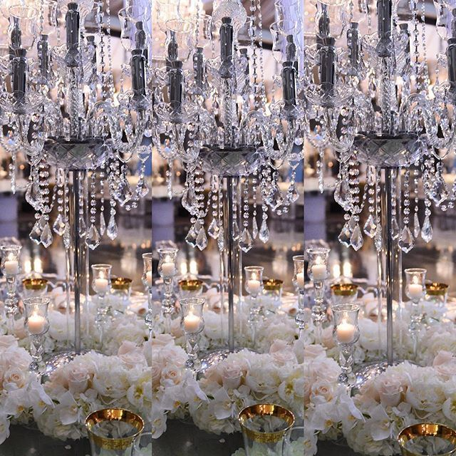 Crystal candelabra and flowers always bring the magic ✨@alianaevents #style  #design #eventplanner @celiosdesign #flowers #decor @revelryeventdesign #photography #wedding @milana_taver @armenphoto