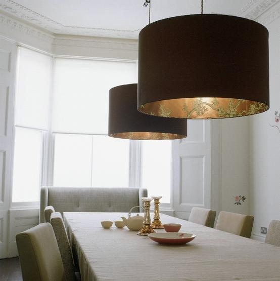 Oversized lighting with interior detail