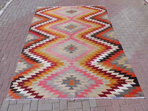 Vintage turkish kilim rug turkish rug vintage rug bohemian
