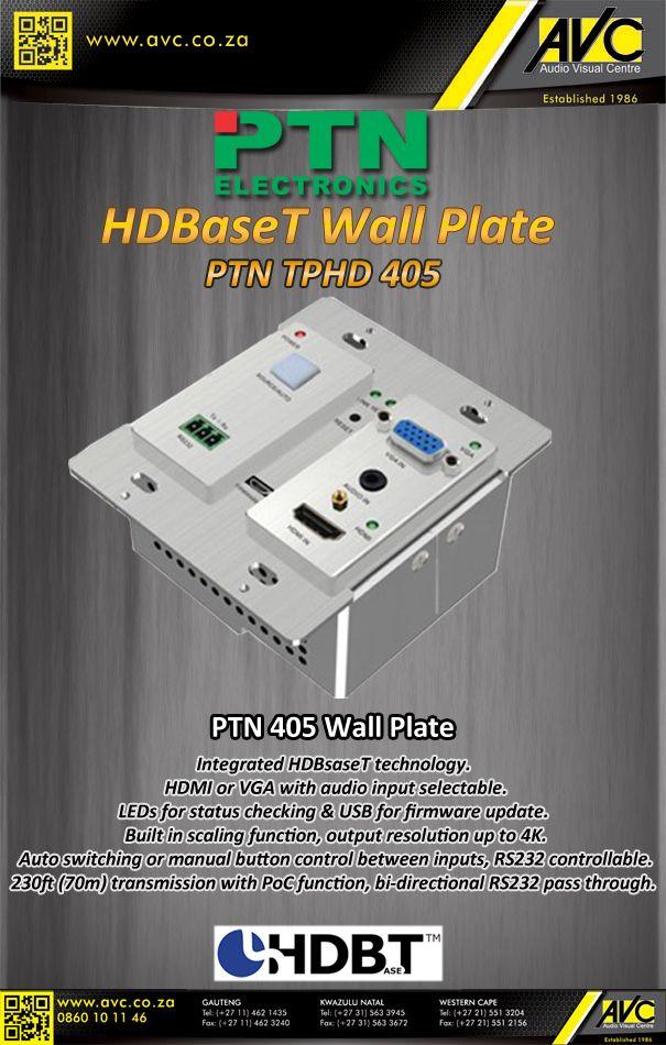The PTN 405 HDBaseT wall plate
