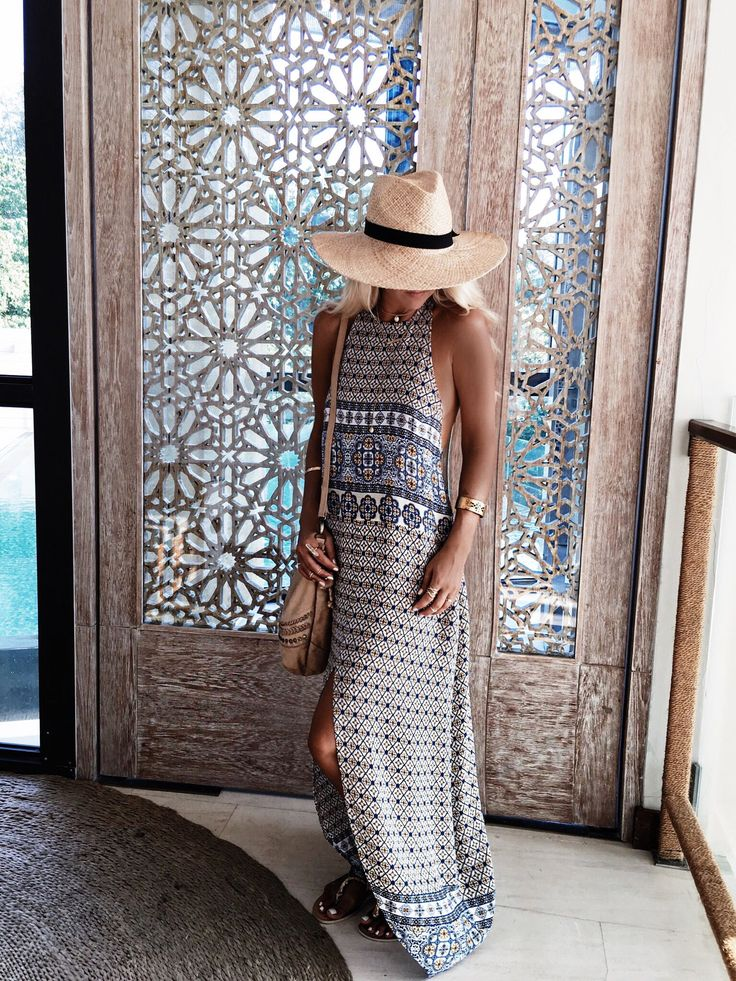 Try a patterned Maxi for a summer bohemian look!