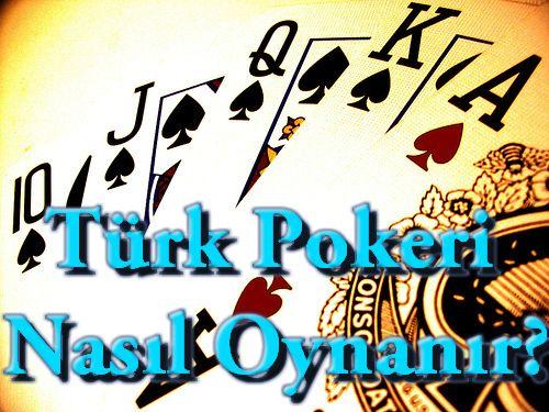 Pokerin birçok çeşidi vardır bunlardan Türk oyuncuları için yapılmış olan Türk pokeri de eklenmiştir. Türk pokeri nasıl oynanır konusunda hiçbir bilginiz olmayabilir endişelenmenize gerek yok. Tüm ayrıntıları ile anlatmaya çalışacağız.  Türk pokeri en az 2 en fazla 5 kişi ile oynanan bir oyundur. Oyunda diğer poker türlerinden farkı olarak tek deste bulunur ve destenin içerisinde as, papaz, kız, vale, 10, 9, 8, 7 bulunur.