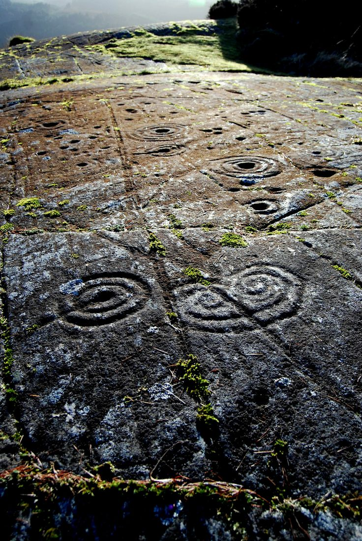 Achnabreck - a horned spiral.  'This place is magical. The largest expanse of rock art in Britain, with rings, cups and gutters as well as some curious motifs like this horned spiral. Scholars are slowly revealing some of this Neolithic rock art's secrets but it's unlikely we'll ever know just what the symbols mean. I find their enigmatic elegance hypnotic.'  Copyright Steve Farrar