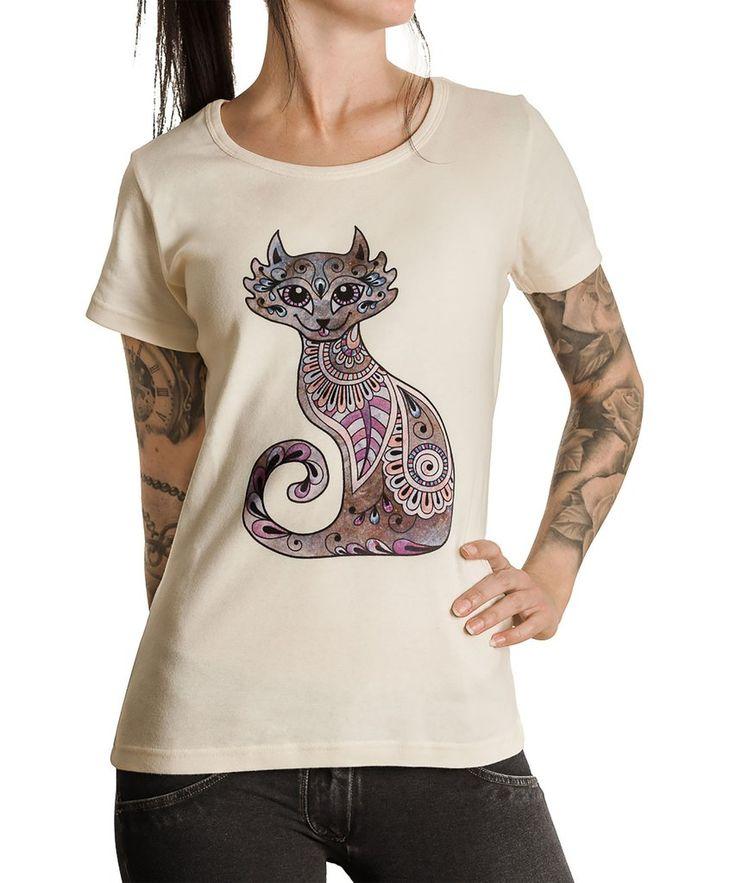 Ethereal Cat-Fox økologisk/fair trade T-skjorte - Dame