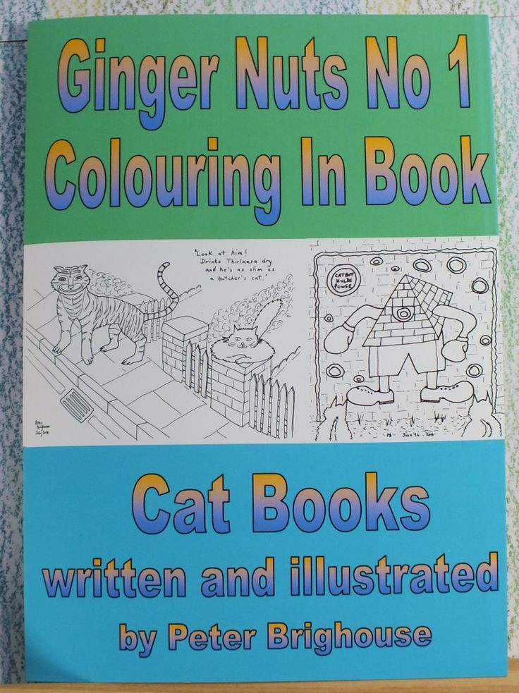 book: The Ginger Nuts No 1 Colouring In Book for those young at heart by Peter Brighouse; Louisa's Ginger Nuts Series Cat Books by MrSquimpsCatShop on Etsy