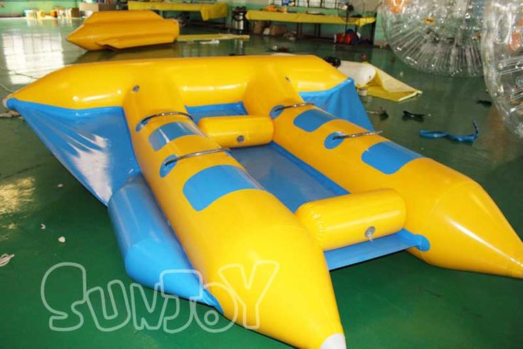 4 person inflatable flying banana boat, fun flying fish boat for sale at sunjoy.