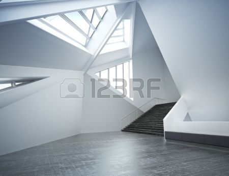 Modern new interior, empty room apartment or office business