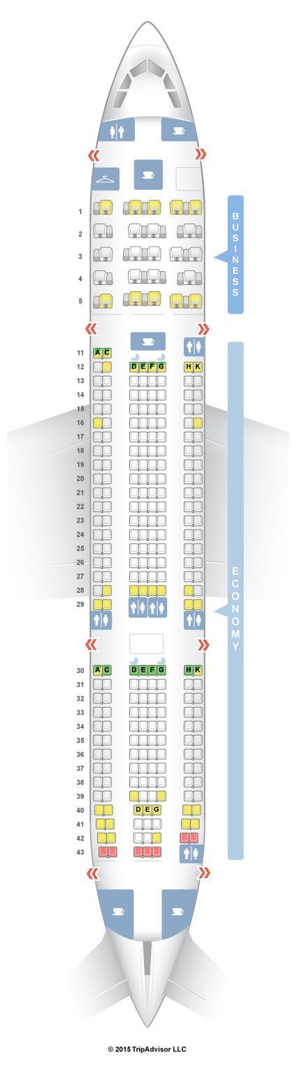 SeatGuru Seat Map Aer Lingus Airbus A330-200 (332) V1 - SeatGuru