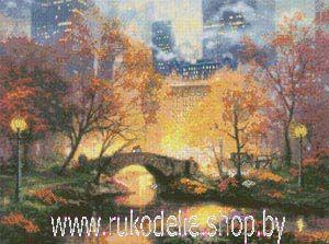 Набор для вышивки крестом Candamar 51647 Центральный парк осенью