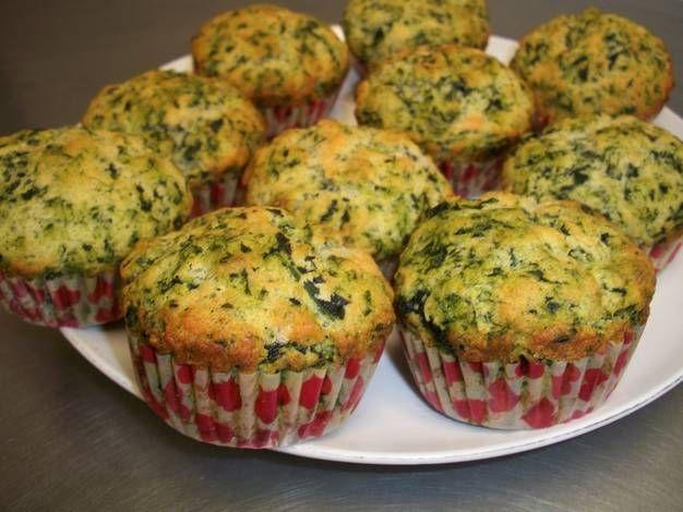 Muffins de espinaca y parmesano