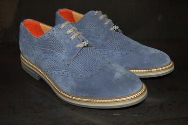 Brimarts Classic shoes leather blue summer 2016