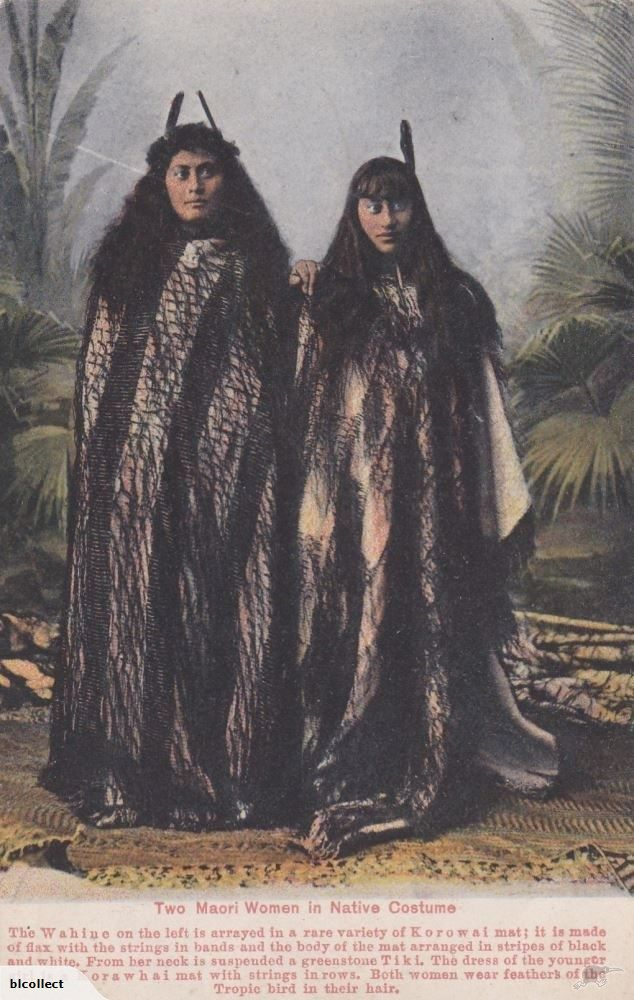 Maori Two Women In Native Costume No D30 Postcard | Trade Me