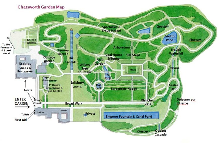 mapjpg Chatsworth Garden map Landscape Architecture Pinterest