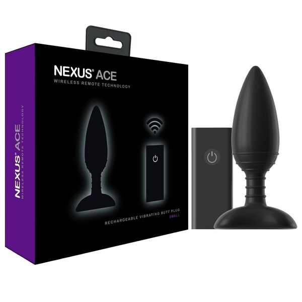 Nexus ACE Small - USB Rechargeable Vibrating Butt Plug Play your ACE!  Nexus ACE is a luxury butt plug for those that want more from their pleasure products. Made from silky soft silicone, ACE is shaped for comfort with ridges on the flexible shaft for extra stimulation.
