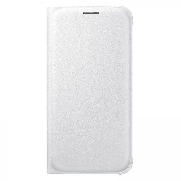 Etui Flip Wallet Blanc pour Galaxy S6 - Vente et achat en ligne des tablettes smartphones téléphones et accessoires au Maroc.