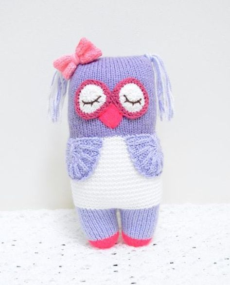Free Pattern: Knot Forgotten Knit Owl - Jennifer Wang Bears