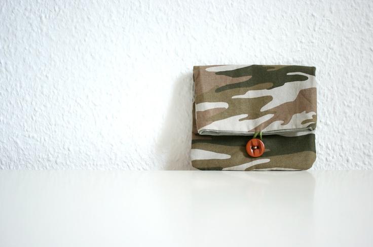 Belt Pouch Bag Army Print Cotton. $22.00, via Etsy.