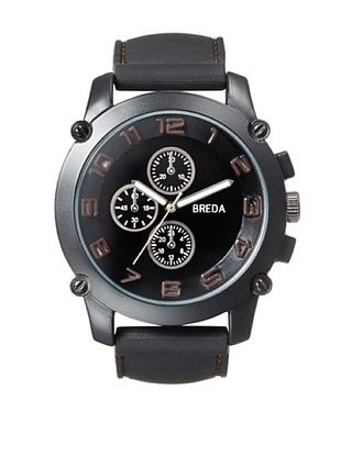 44% OFF Breda Men's 8135 Colton Black/Brown Silicone Watch