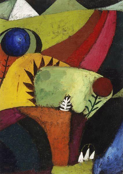 Paul Klee - Drei weisse Glockenblumen, 1920