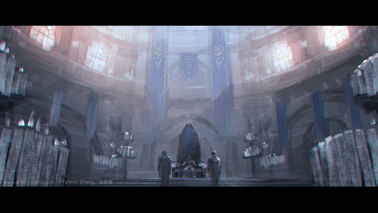 Yanmo Zhang's art - Warcraft Movie Trailer Fan Art, Blue Tweets, Gorgrond / Timeless Isle Teleport