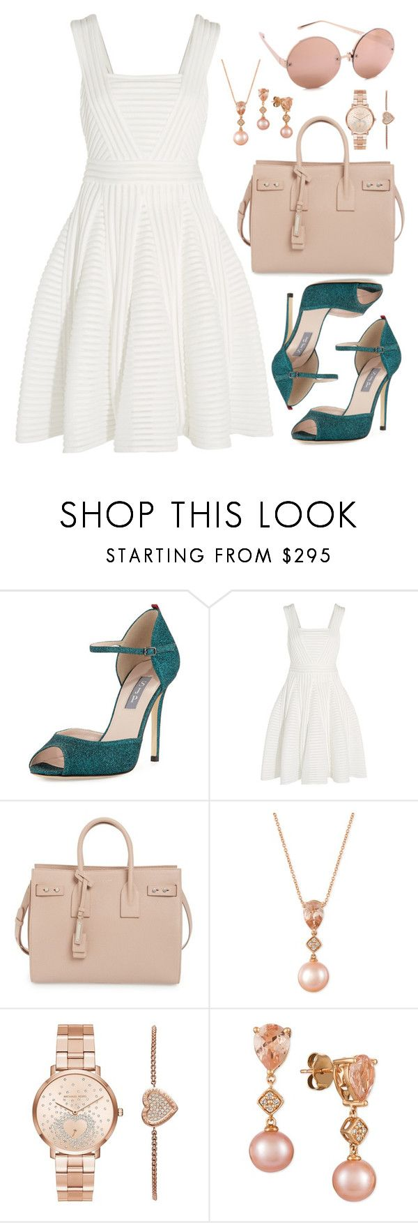 """""""Untitled #1020"""" by alissar13 ❤ liked on Polyvore featuring SJP, Maje, Yves Saint Laurent, LE VIAN, Michael Kors and Linda Farrow"""
