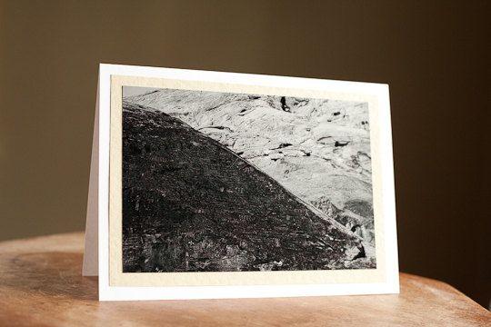 Fine Art Greeting Card Blank 5 x 7 Petroglyphs black and white $5.00
