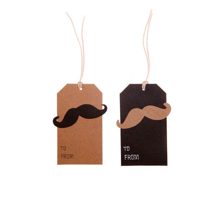 Moustache gift tags. Make your gifts as special as possible. Buy here http://www.smallthings.gr/shop/dining-room-2/moustache-gift-tags/#.VL-w8i53AxI