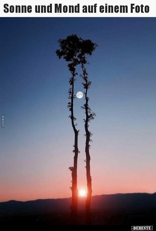 Sonne und Mond auf einem Foto.. | Lustige Bilder, …