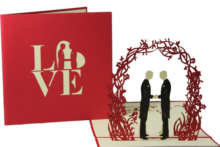 3D Pop Up Greeting Card - 2 Grooms Wedding