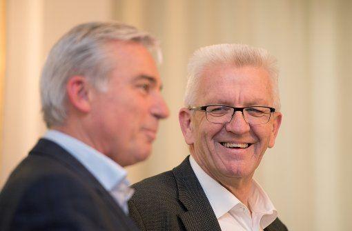 Ministerpräsident Winfried Kretschmann (Grüne) und CDU-Verhandlungsführer Thomas Strobl Foto: dpa