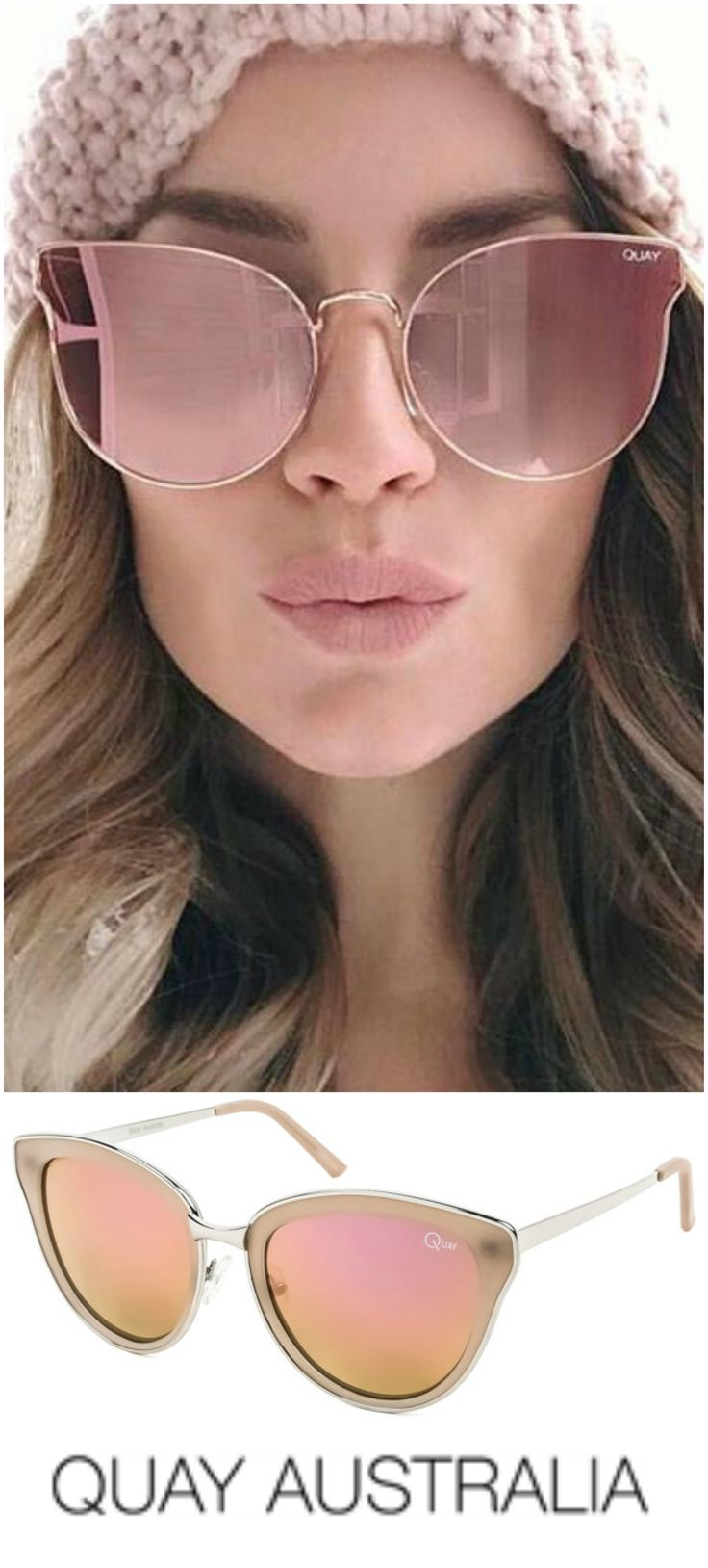 EVERY LITTLE THING Quay sunglasses  from SmartBuyGlasses UK are outstanding in style and quality with Pink Mirror Plastic lenses that can be upgraded to include prescription lens coatings.
