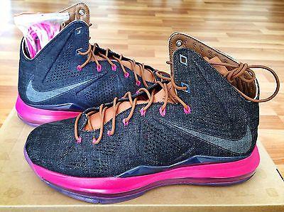 Men 158971: Nike Air Lebron James X 10 Ext Denim Qs Size 10 -> BUY IT NOW ONLY: $175 on eBay!