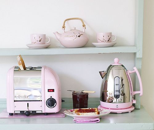 Dualit Petal Pink Kettle And Toaster Set Kitchen