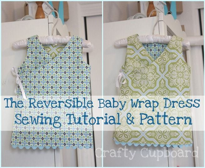 The Reversible Baby Wrap Dress Sewing Tutorial & Pattern