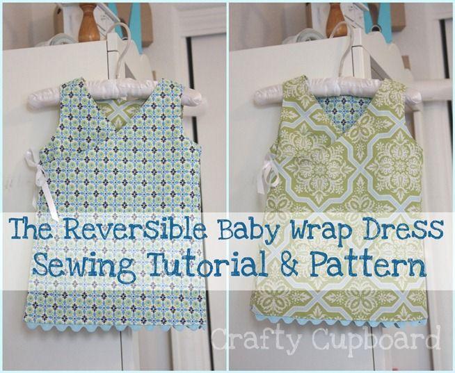 Reversible Baby Wrap Dress Pattern Free Sewing Tutorials