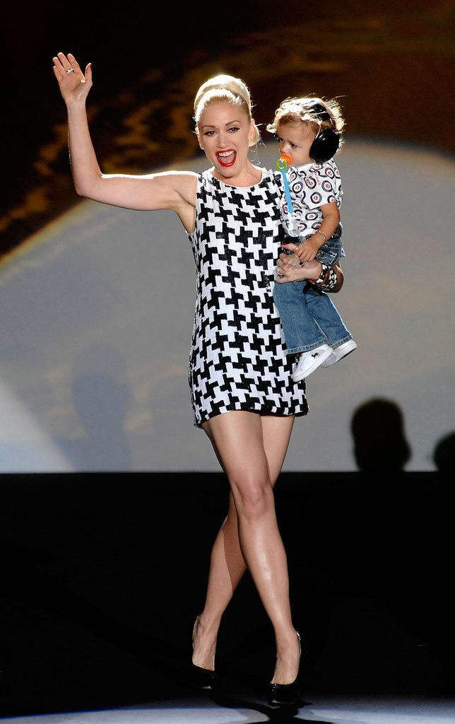 Mother of three Gwen Stefani walks the runway with Zuma at NYFW.